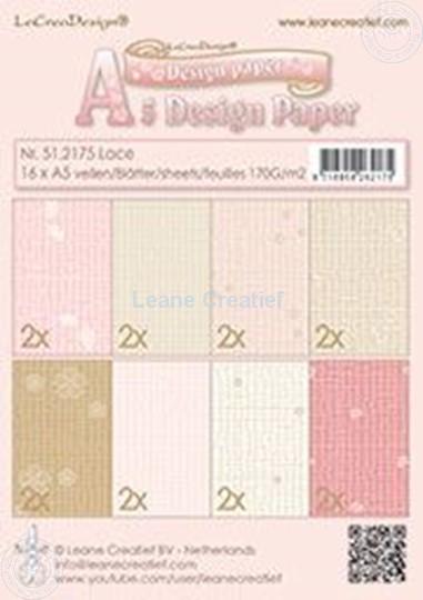 Afbeelding van Design paper Lace pink/brown