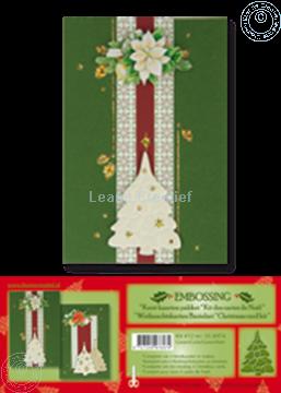 Bild von Weihnachtskarten Bastelset embossing grün