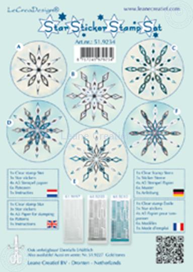 Afbeelding van Star sticker stamp set