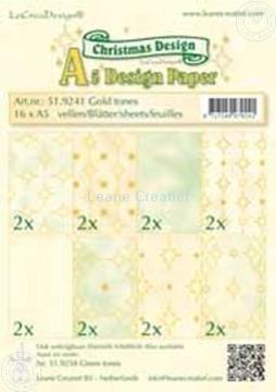 Afbeeldingen van Design papier gold tones A5