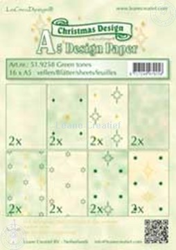 Picture of Design sheets green tones A5