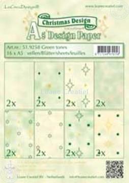 Afbeeldingen van Design papier green tones A5