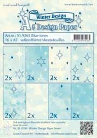 Image sur Feuilles décorées blue tones A5