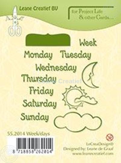 Afbeelding van Week/days English text