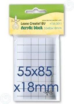 Afbeeldingen van Acrylic block 55x85x18mm