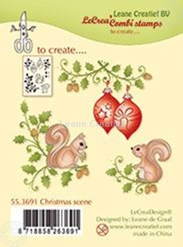 Bild von Combi stamp Christmas scene