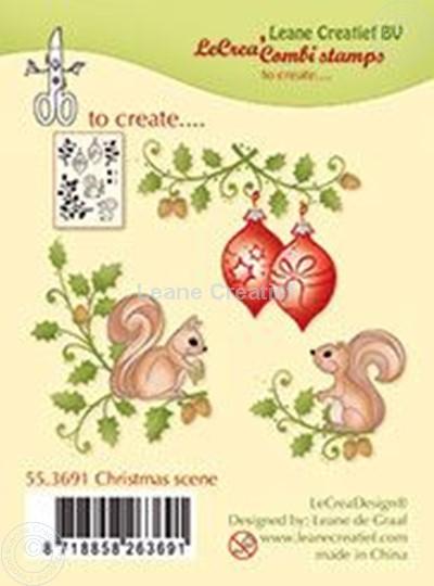 Afbeelding van Combi stamp Christmas scene