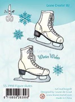 Afbeeldingen van Clear stamp Figure skates