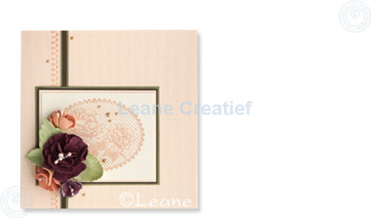 Picture of Combi stamp Lace oval roses