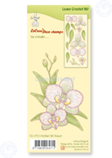 Image sur Clear stamp Orchid 3D flower