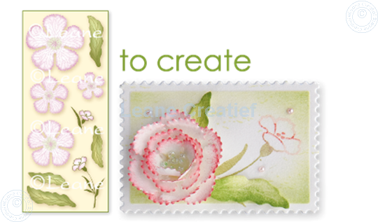 Afbeelding van Clear stamp 3D flower Carnation
