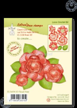 Image de Clear stamp 3D flower Rose