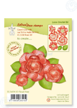 Picture of Clear stamp 3D flower Rose