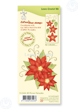 Image de Clear stamp 3D flower Poinsettia