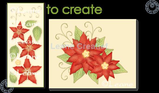 Afbeelding van Clear stamp 3D flower Poinsettia