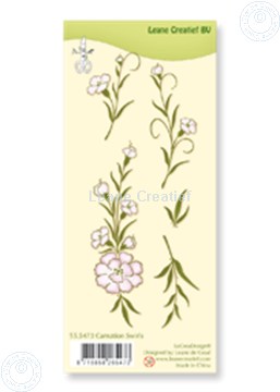 Image de Clear stamp Carnation swirls