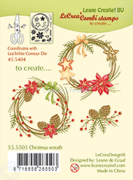 Image de Combi stamp Christmas wreath