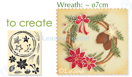 Picture of Combi stamp Christmas wreath