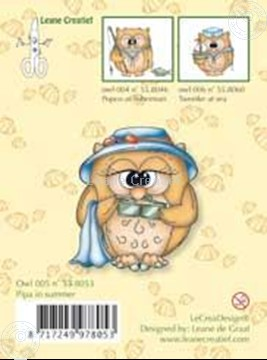 Image de Clearstamp Owlie´s Owl005 Pipa in summer