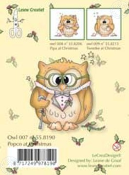 Bild von Clearstamp Owlie´s Owl007 Popco at Christmas