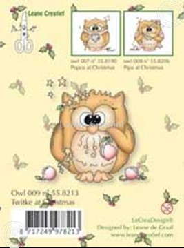 Bild von Clearstamp Owlie´s Owl009 Twitke at Christmas