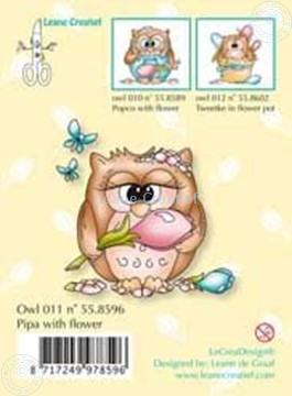 Image de Clearstamp Owlie´s Owl011 Pipa with flower
