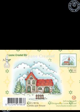 Image de Clearstamp Winter landscape house
