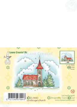 Image de Clearstamp Winter landscape church