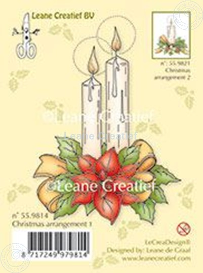 Image sur Christmas arrangement 1 with ponsettia