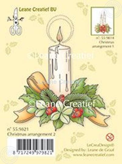 Image sur Christmas arrangement 2 with single candle