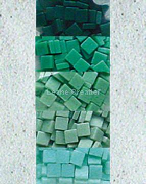 Afbeeldingen van LeCreaDesign® mozaïek steentjes II zeegroen