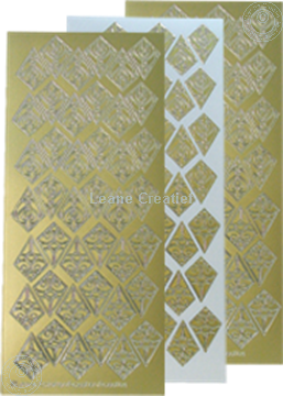 Afbeeldingen van LeCreaDesign® Rozetten stickers goud
