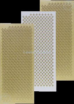 Afbeeldingen van LeCreaDesign® Sticker ruitjes goud