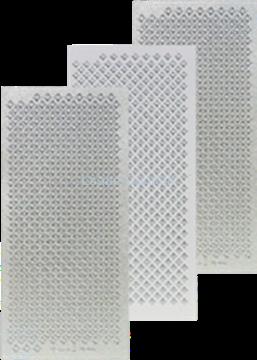 Afbeeldingen van LeCreaDesign® Sticker ruitjes zilver