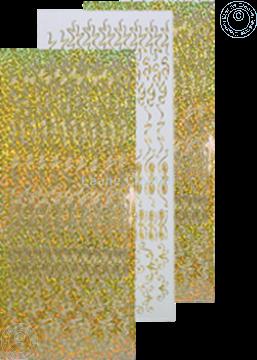 Picture of LeCreaDesign® Rosettes stickers #2 gold diamond