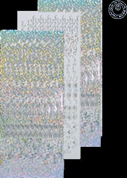 Afbeeldingen van LeCreaDesign® Rozetten stickers #2 zilver diamond