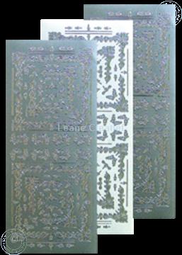 Afbeeldingen van LeCreaDesign® Hoekborduur Sticker zilver