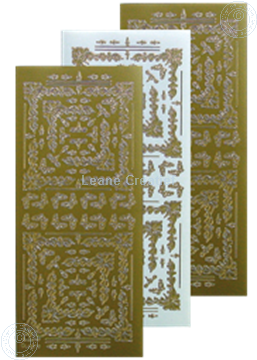 Picture of LeCreaDesign® Embroidery Sticker gold