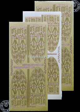 Image de LeCreaDesign® sticker vitrail d'église pearl d'or