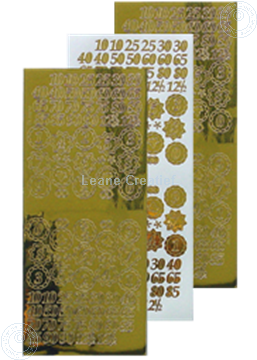 Picture of LeCreaDesign® sticker jubilee numbers mirror gold