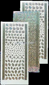 Image de Sticker boules de Noël & houx diamond silver