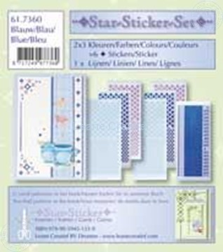 Picture of Star-Sticker set blue