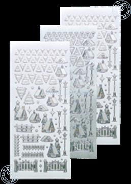 Afbeeldingen van Winter scenery sticker #40 silver