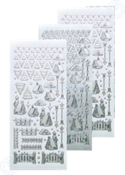 Afbeeldingen van Winter scenery sticker #40 silver