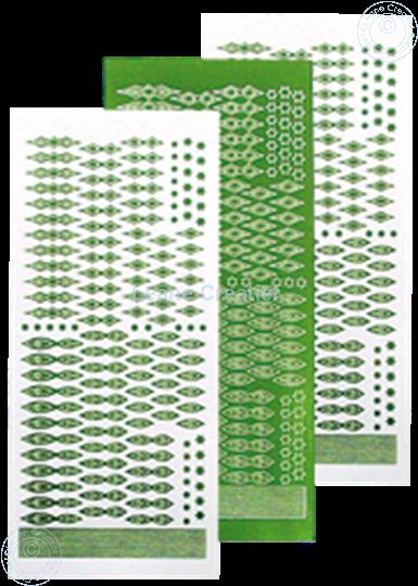Afbeelding van Star Sticker Christmas mirror green
