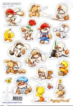 Picture of LeCreaDesign® Mylo & Friends® stickers A5 #4