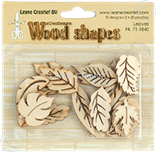 Image sur Woodshapes Leaves