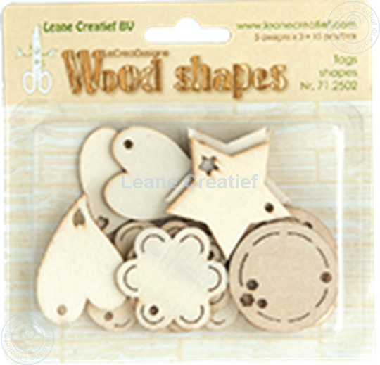 Afbeelding van Woodshapes Tag shapes