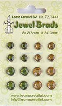 Bild von Jewel brads moss green/light gold