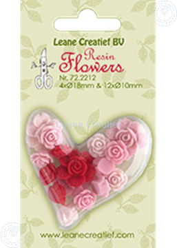 Image de Resin flowers roses pink